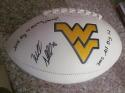Wendell Smallwood West Virginia signed FS Logo Football COA Inscription