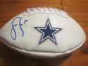 Sean Lee Dallas Cowboys Signed Full Size Logo Football COA