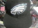 Philadelphia Eagles Black New Era Fitted Hat NEW Size 7 3/8