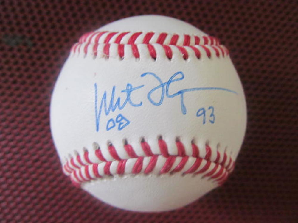 Milt Thompson Philadelphia Phillies/Braves/Cardinals Signed OLB Baseball COA