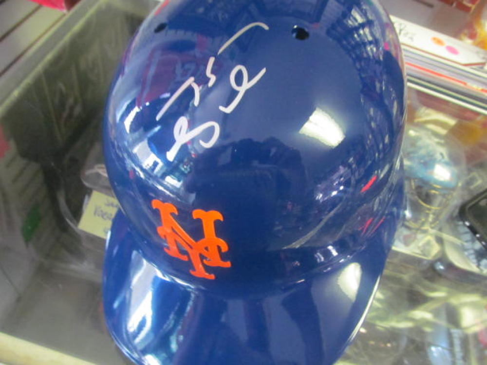 Tim Tebow New York Mets Signed Full Size Official Batting Helmet COA