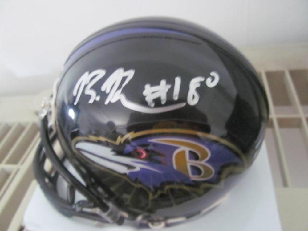Bernard Perriman  Baltimore Ravens signed Mini Helmet COA