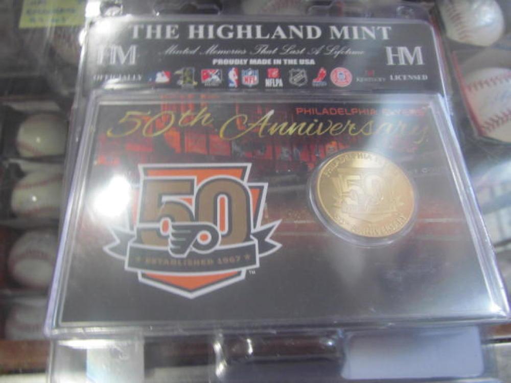 Philadelphia Flyers 50th Anniversary Highland Mint Coin NEW