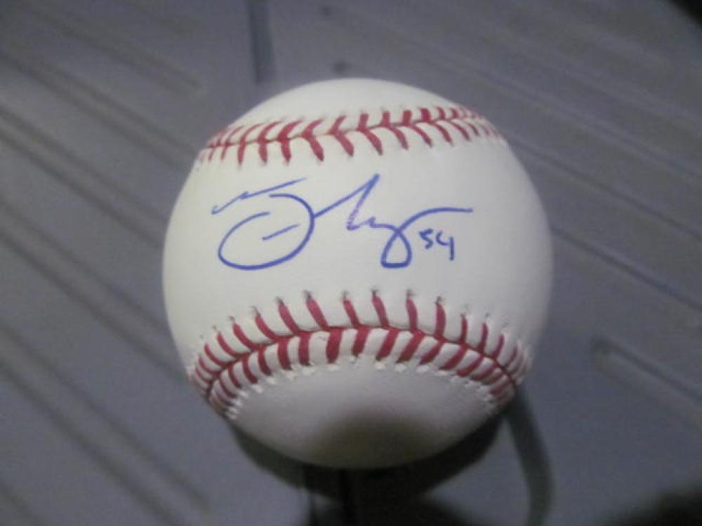 Trevor May Minnesota Twins/Phillies Signed MLB Baseball COA