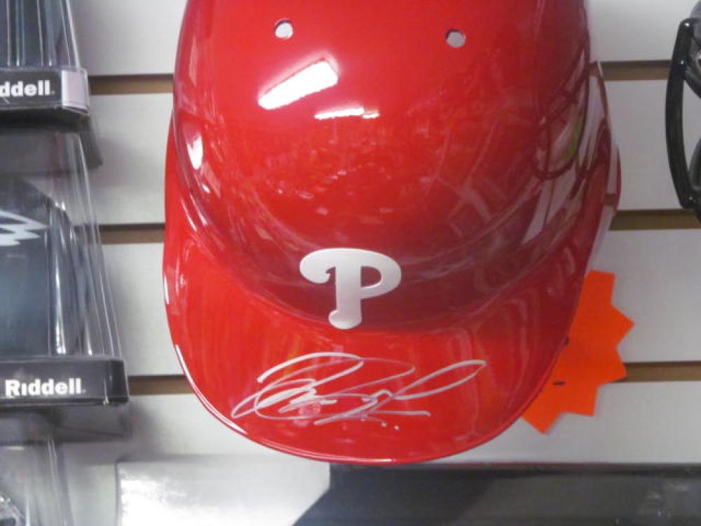 Jorge Alfaro Philadelphia Phillies Signed Full Size Official Batting Helmet COA