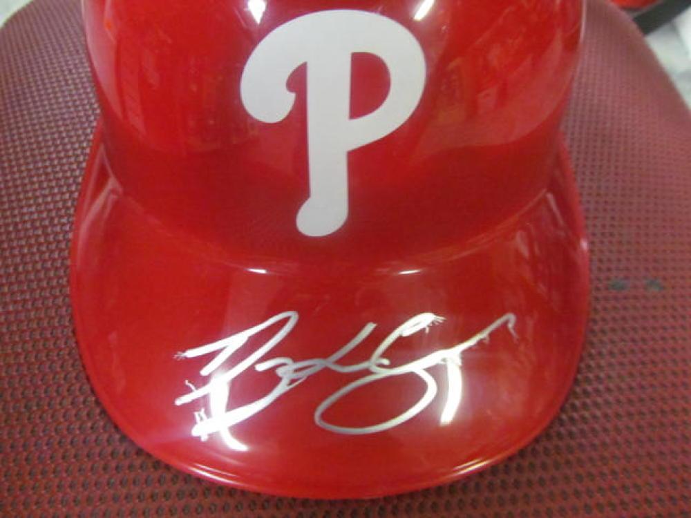 Dylan Cozens Philadelphia Phillies Signed Full Size Plastic Batting Helmet COA