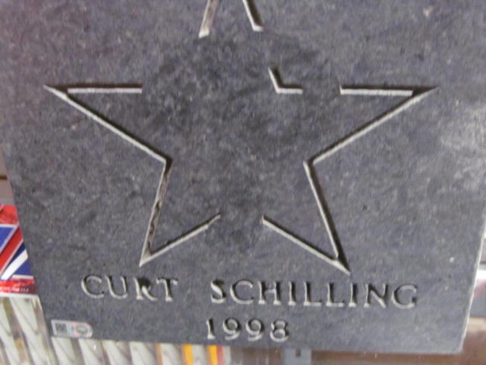 Curt Schilling Philadelphia Phillies Citizens Bank Park Ashburn Alley All Star Paver COA
