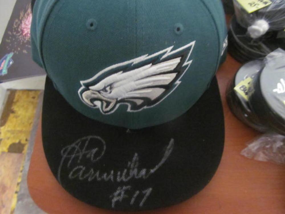 Harold Carmichael Philadelphia Eagles Signed Fitted Hat COA