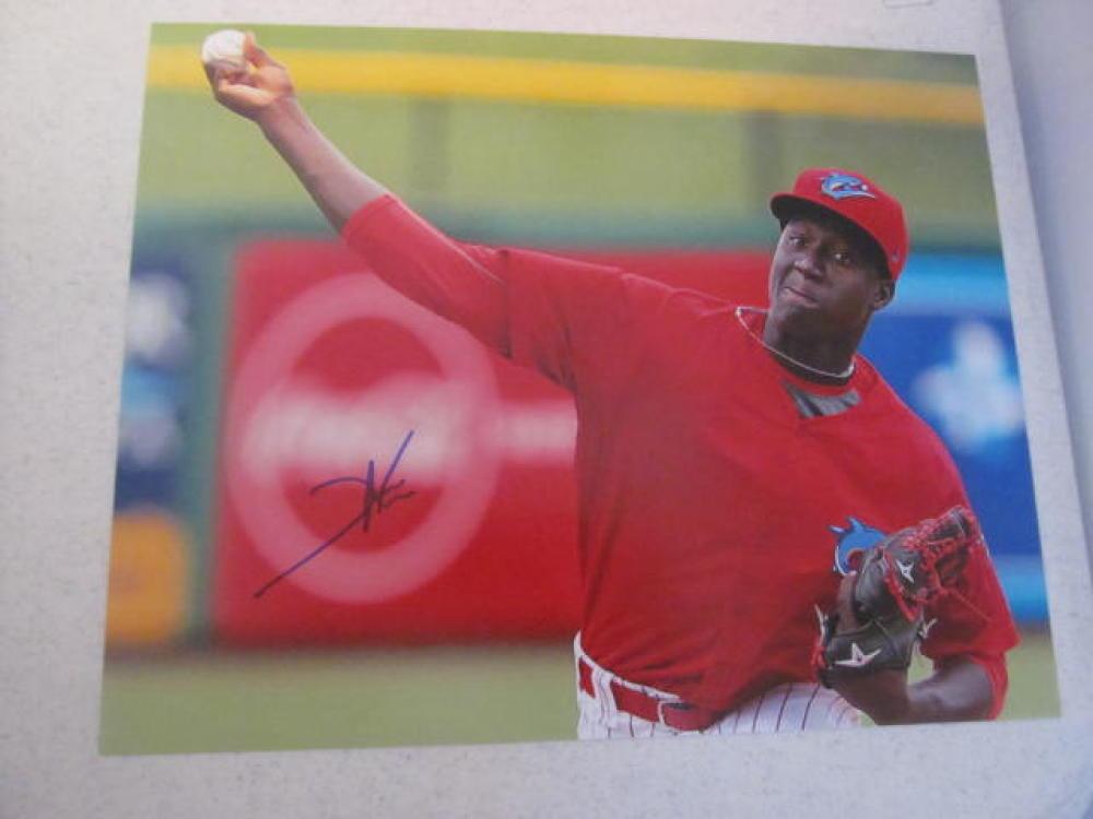 Franklyn Kilome  Philadelphia Phillies Signed 8x10 Clearwater Photo COA