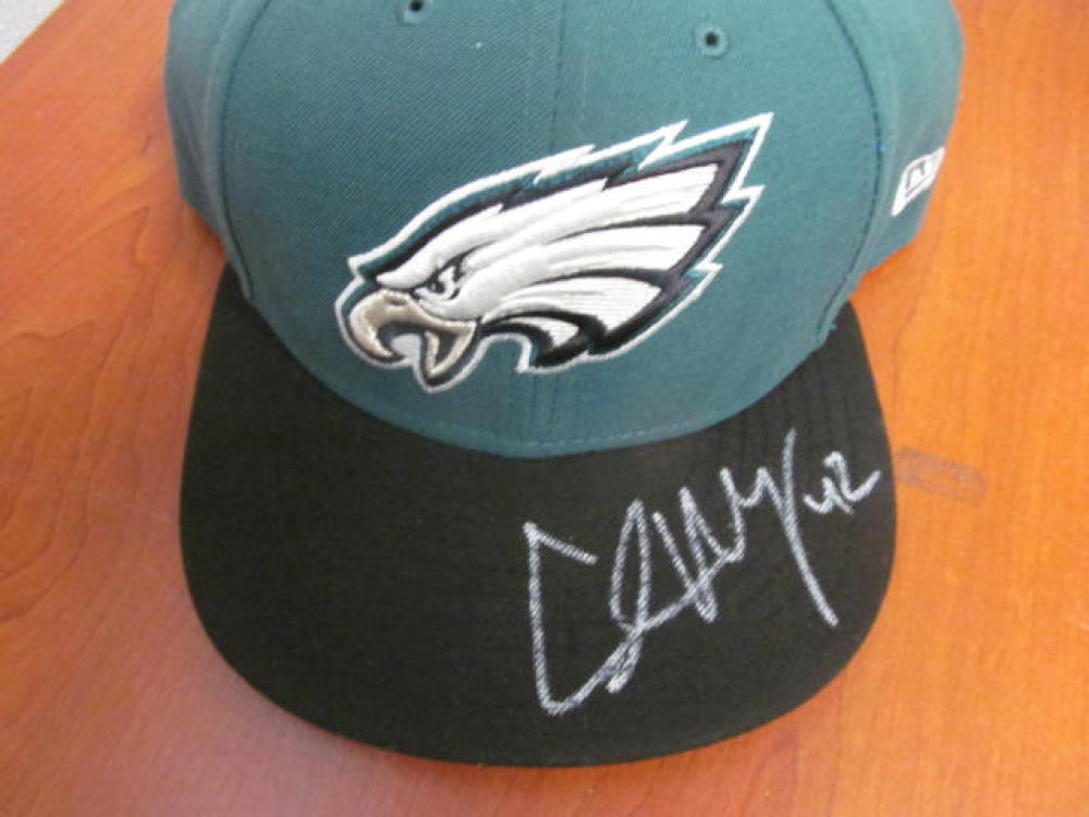 Chris Maragos Philadelphia Eagles Signed Fitted Hat COA
