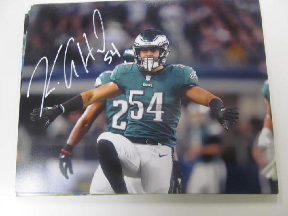 Kamu Grugier-Hill Philadelphia Eagles Signed 8x10 Photo COA 5