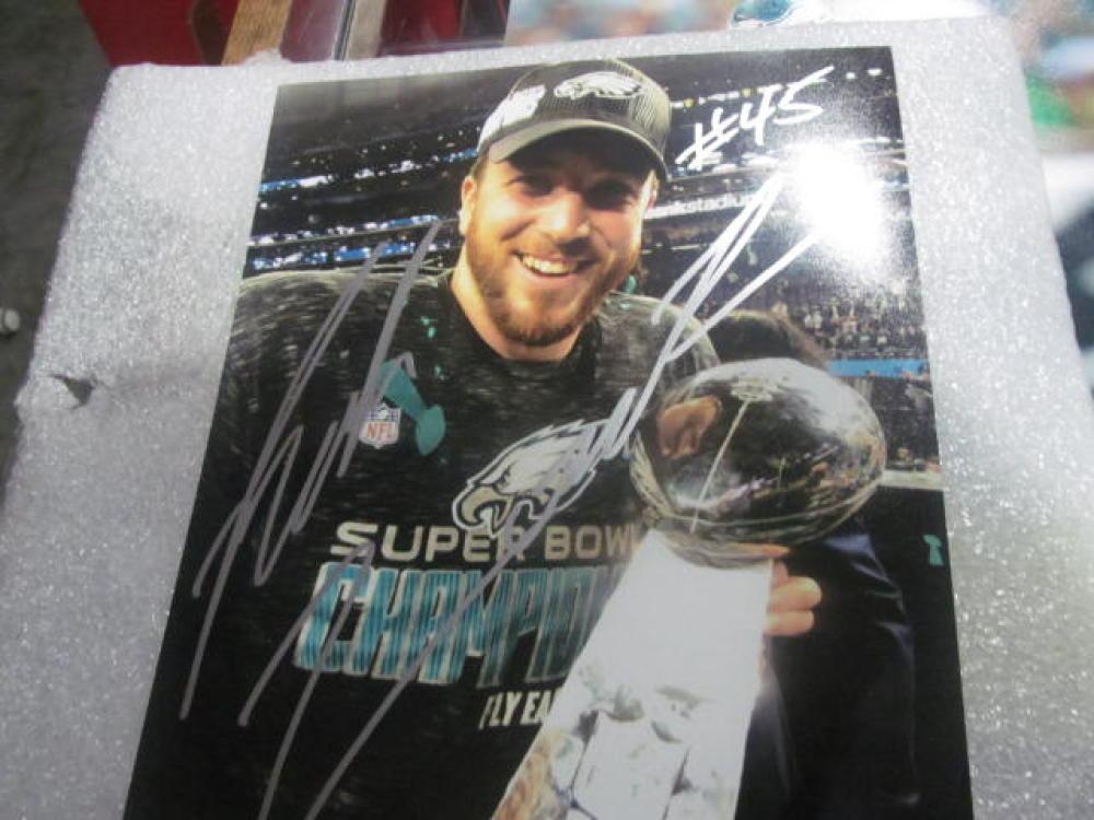 Rick Lovato  Philadelphia Eagles Signed 8x10  Photo COA Superbowl
