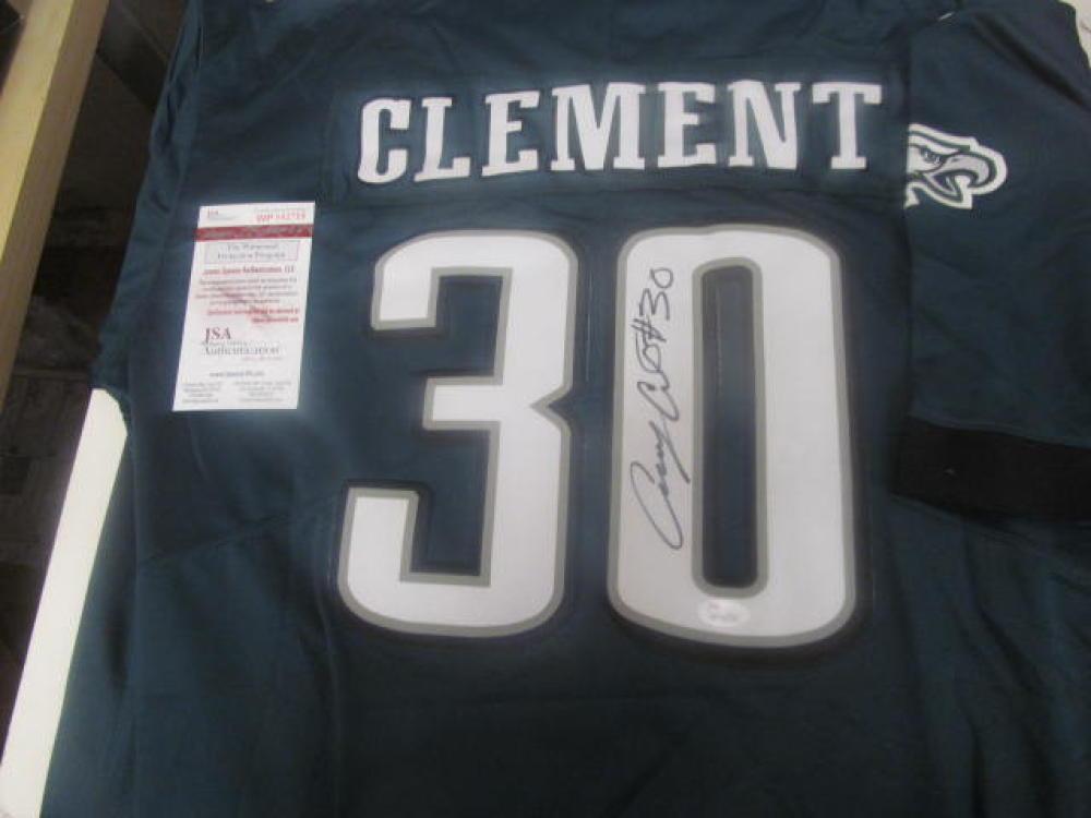 Corey Clement Philadelphia Eagles Signed Custom Green Jersey JSA