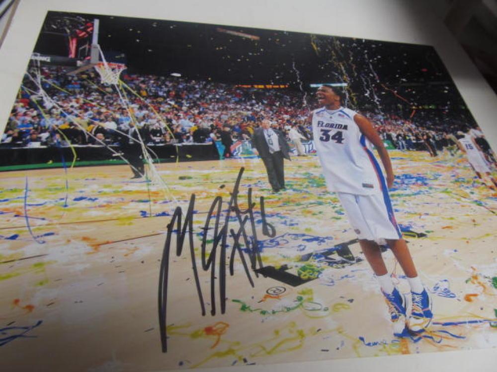 Mareese Speights Florida Gators Signed 8x10 Photo COA NCAA Champs