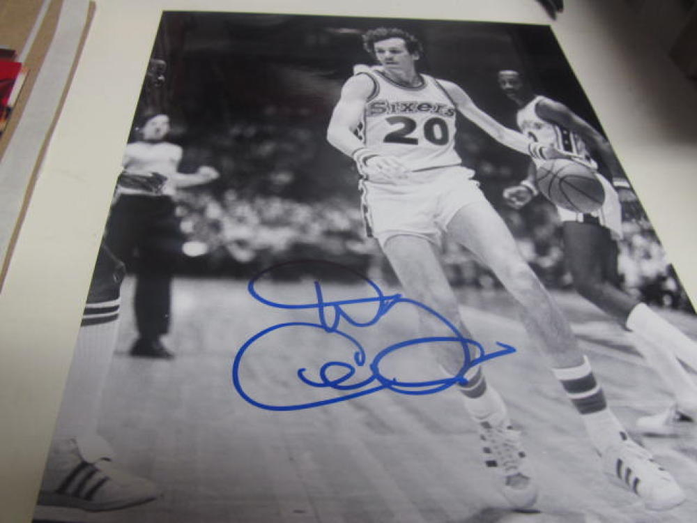 Doug Collins Philadelphia 76ers Signed 8x10 Photo COA 2