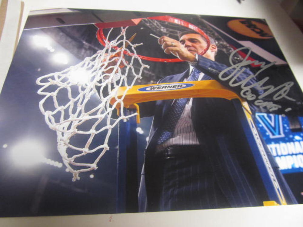 Jay Wright Villanova Wildcats Signed 8x10 Photo COA NCAA Champs