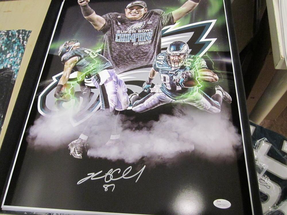 Brent Celek Philadelphia Eagles Signed  16x20 Superbowl Collage Photo JSA