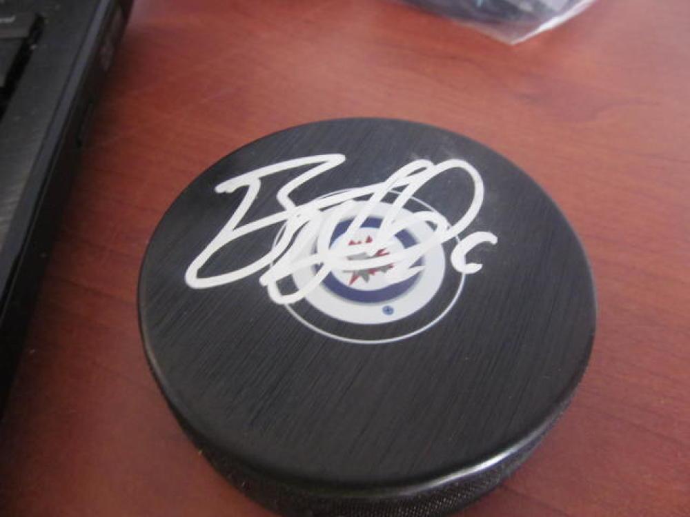 Blake Wheeler Winnipeg Jets Signed Logo Puck COA