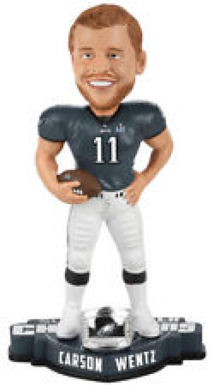 Carson Wentz Philadelphia Eagles Super Bowl Champions Ring Bobblehead NEW