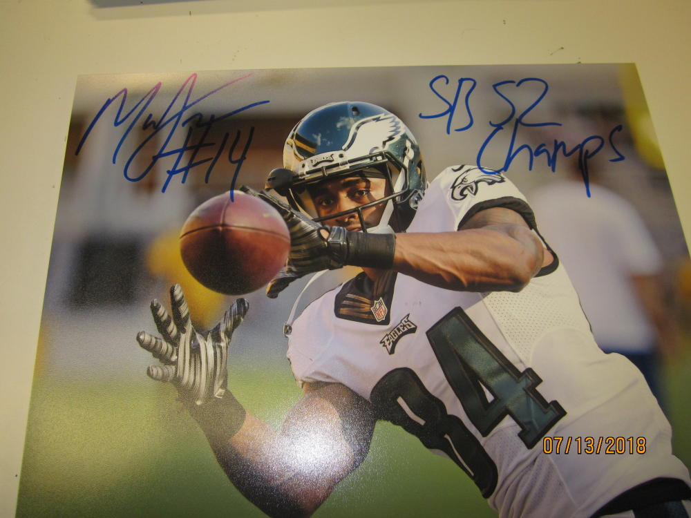 Marcus Johnson Philadelphia Eagles Signed 8x10 Photo COA