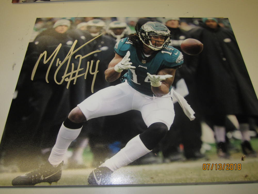 Marcus Johnson Philadelphia Eagles Signed 8x10 Photo COA 2