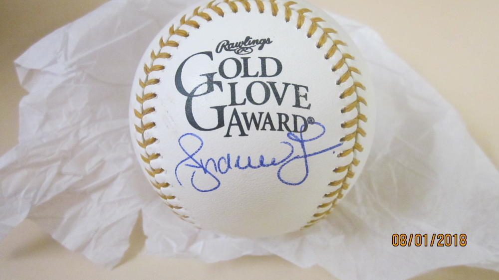 Andruw Jones Atlanta Braves  Signed Gold Glove  Baseball COA