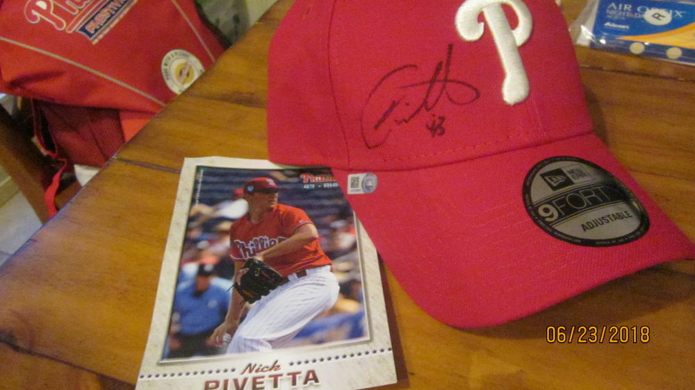 Nick Pivetta Philadelphia Phillies Signed Hat MLB Authenticated