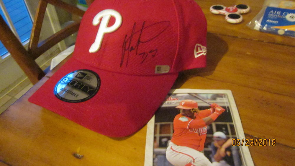Odubel Herrera Philadelphia Phillies Signed Hat MLB Authenticated