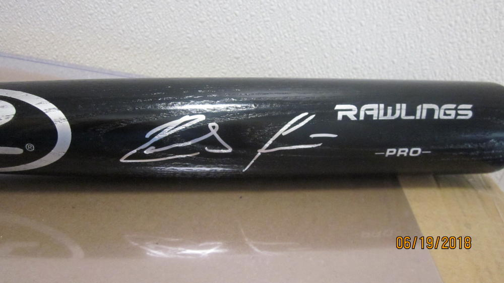 Ronald Acuna Atlanta Braves Signed FS Rawlings Bat JSA