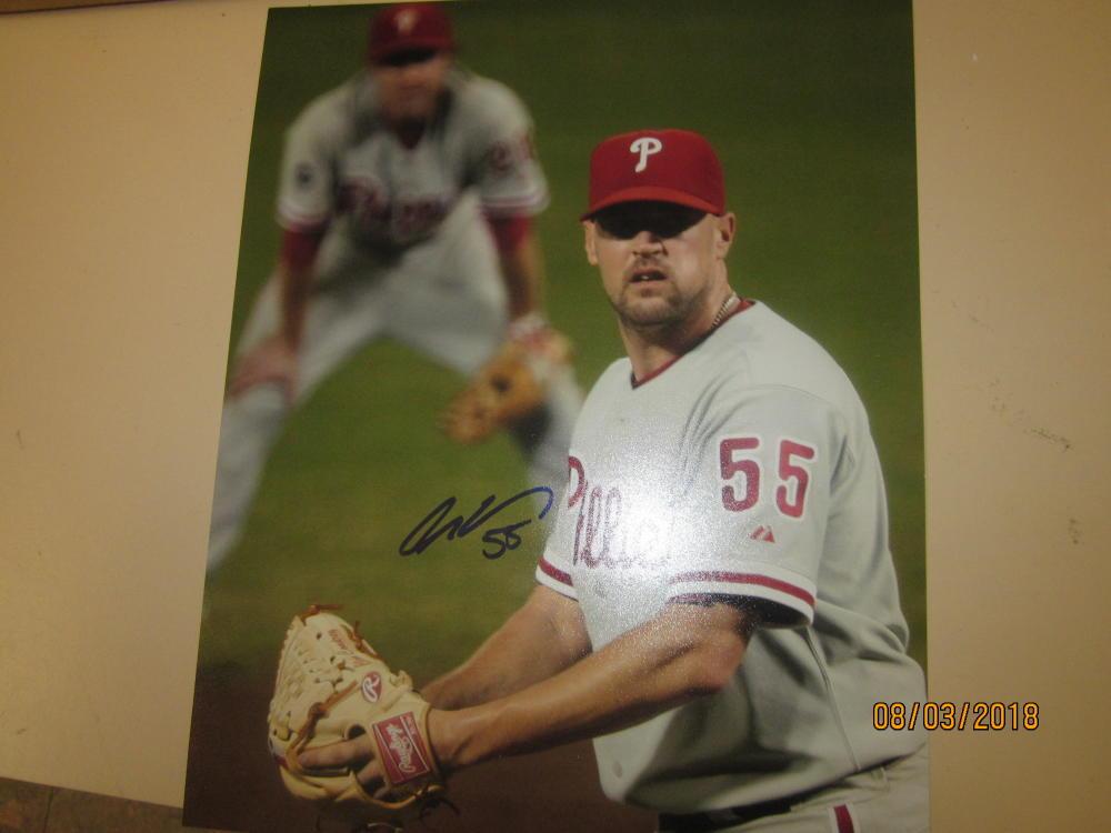 Clay Condrey Philadelphia Phillies Signed 8x10 Photo COA