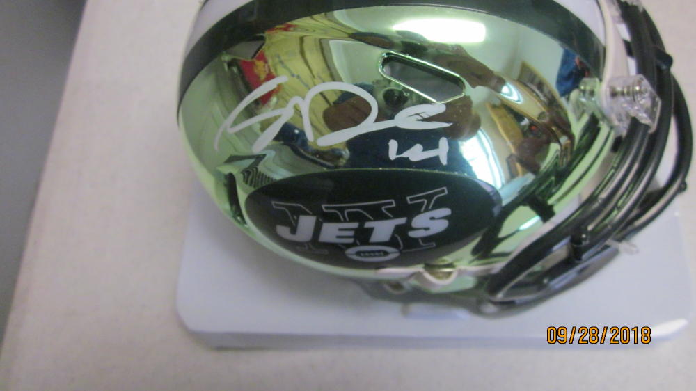 Sam Darnold New York Jets Signed Chrome Mini helmet COA