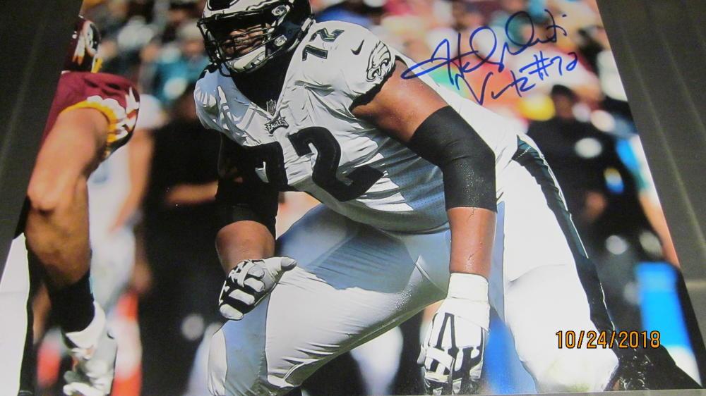 Halapoulivaati Vaitai Philadelphia Eagles Signed 8x10 Photo COA