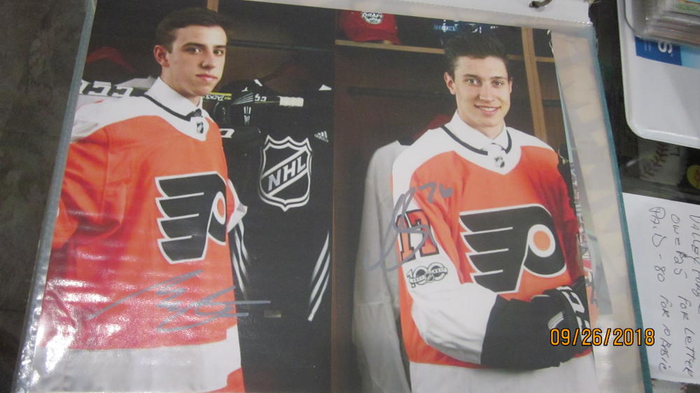 Morgan Frost/Isaac Ratcliff Philadelphia Flyers Dual Signed 8x10 Photo COA