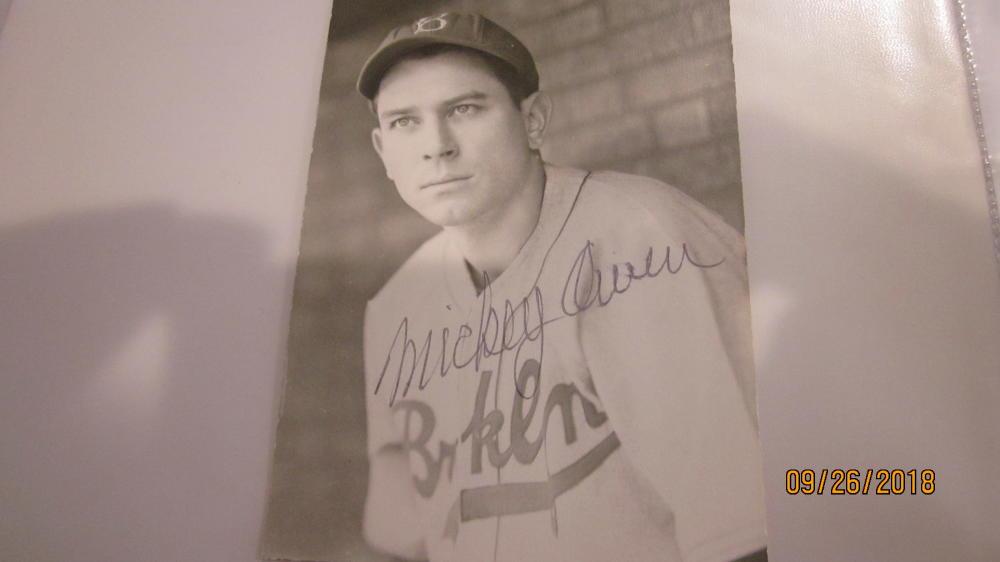 Mickey Owens Brooklyn Dodgers Signed 8x10 Photo COA