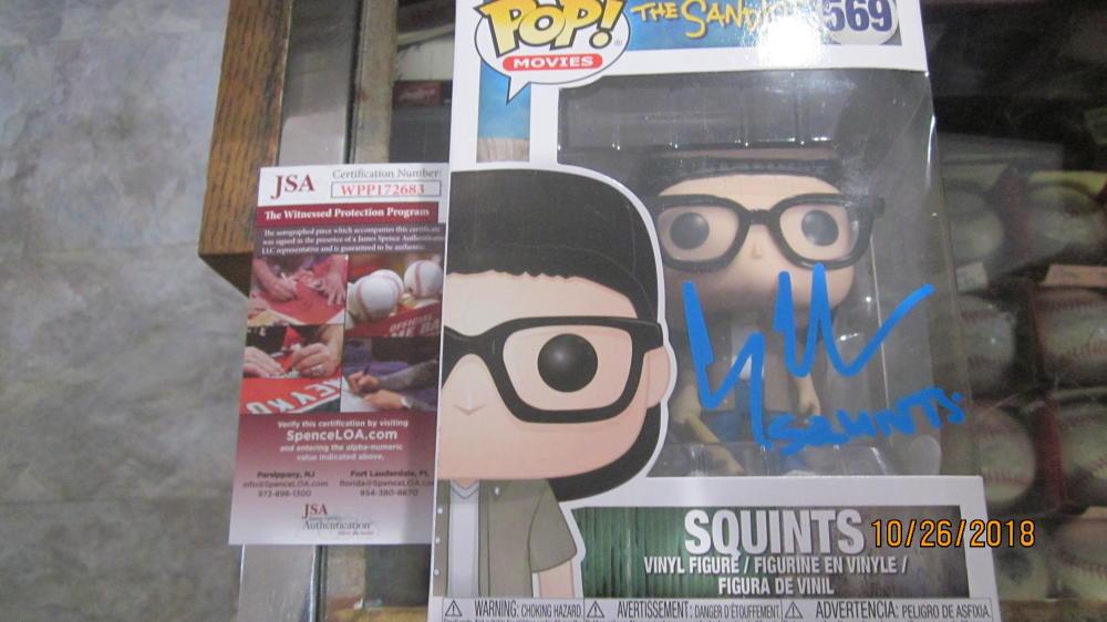 Chauncey Leopardi SANDLOT Signed Squints POP Figurine JSA Inscription