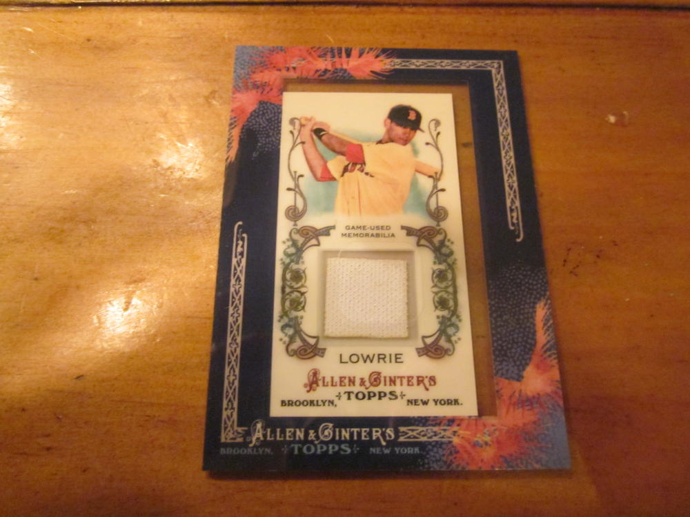 Jed Lowrie Boston Red Sox 2011 Allen & ginter jersey Card Mint