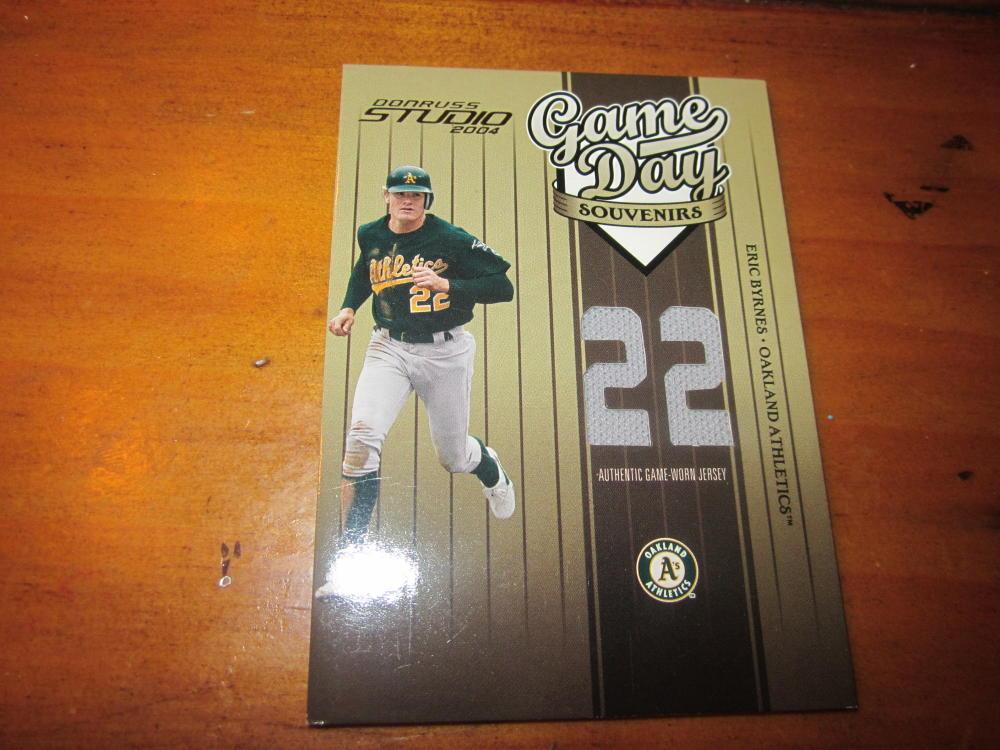Eric Byrnes Oakland A's 2004 Donruss Studio Jersey Card Mint #87/150