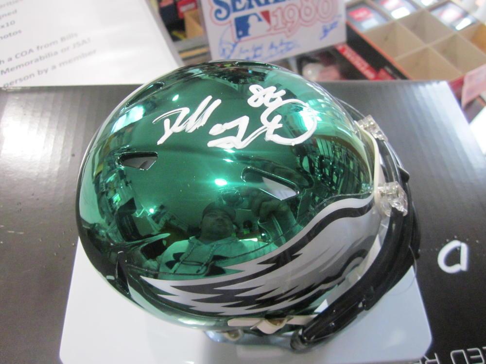 Dallas Goedert Philadelphia Eagles Signed  Chrome Mini Helmet COA
