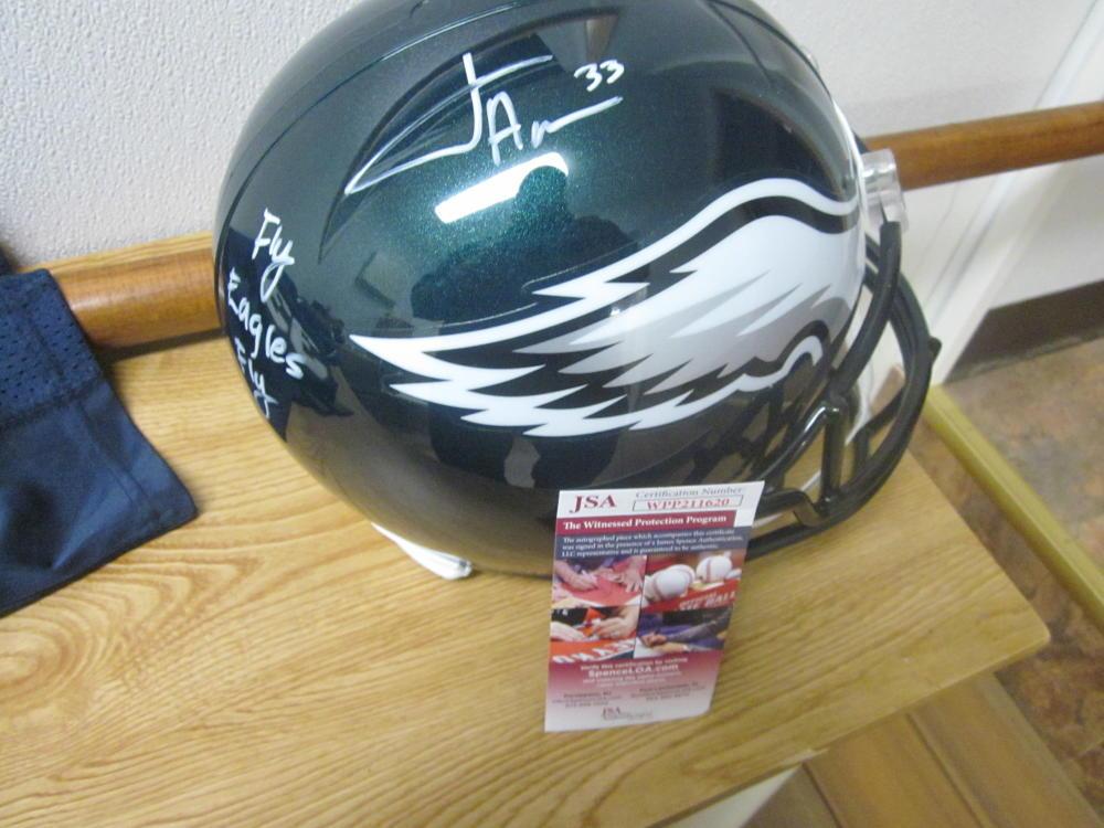 Josh Adams Philadelphia Eagles Signed Full Size Replica Helmet JSA