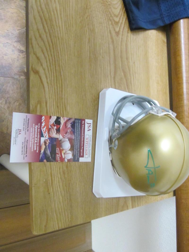 Josh Adams Notre Dame Signed Mini Helmet JSA