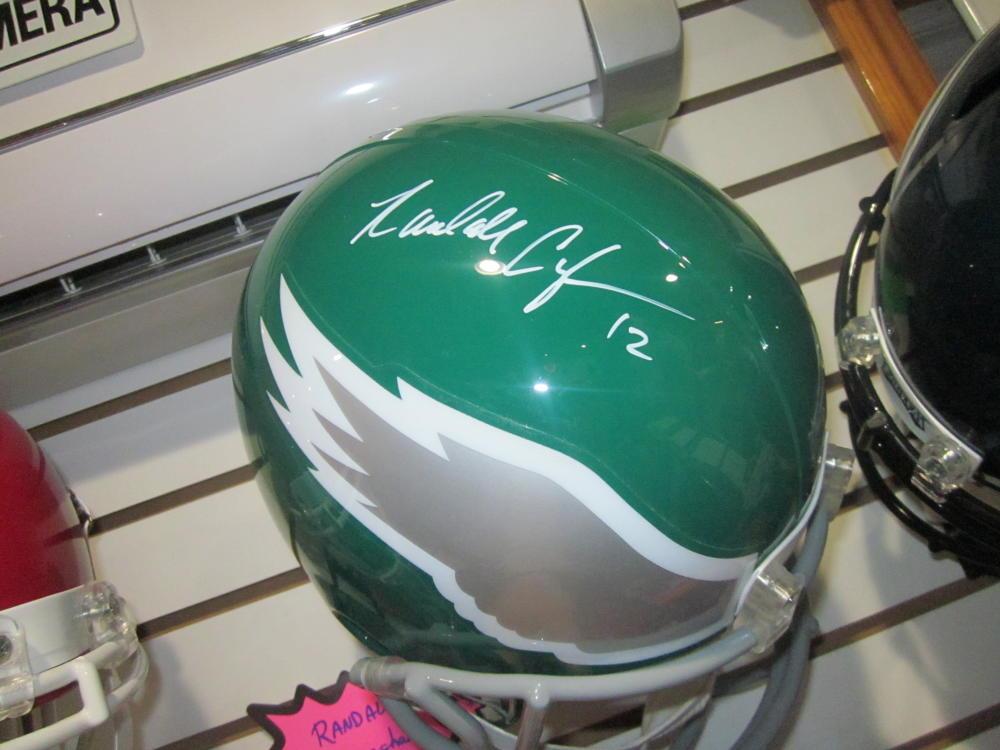 Randall Cunningham Philadelphia Eagles Signed Full Size Replica Throwback Helmet JSA