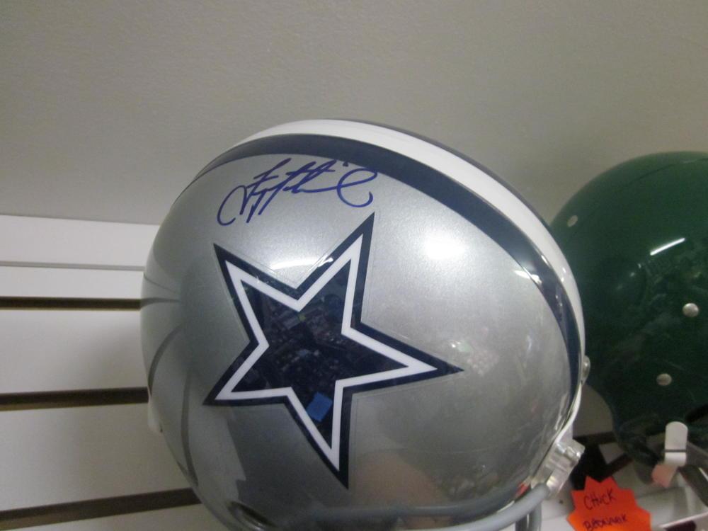 Troy Aikman Dallas Cowboys Signed Full Size Replica  Helmet COA