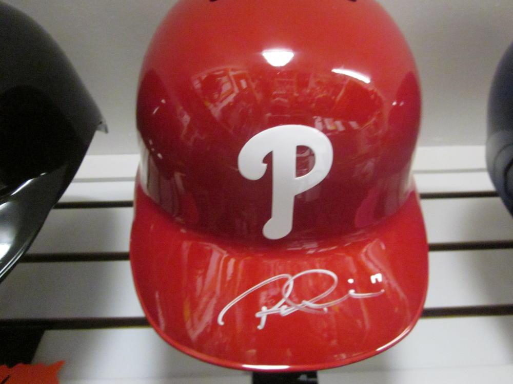 Rhys Hoskins Philadelphia Phillies Signed FS Authentic Batting Helmet JSA