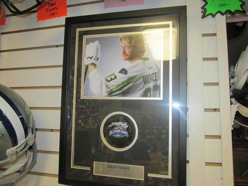 Jakub Voracek Philadelphia Flyers Signed 2015 All Star Puck w Framed photo COA