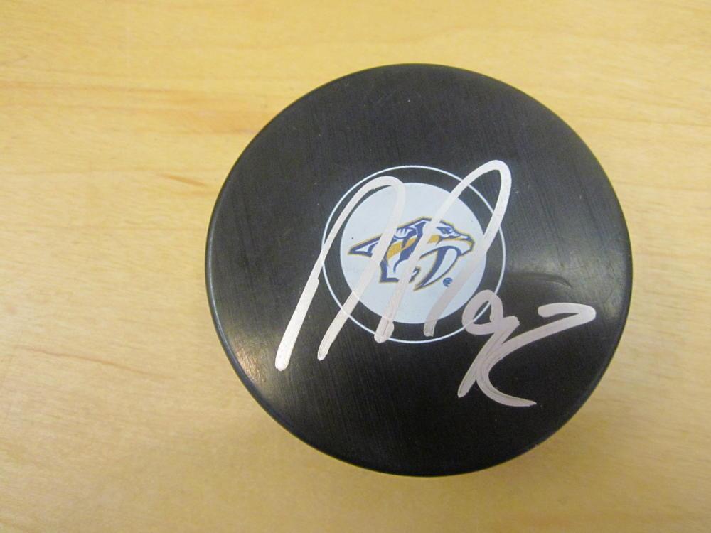 Ryan Johansen Nashville Predators Signed Logo Puck COA