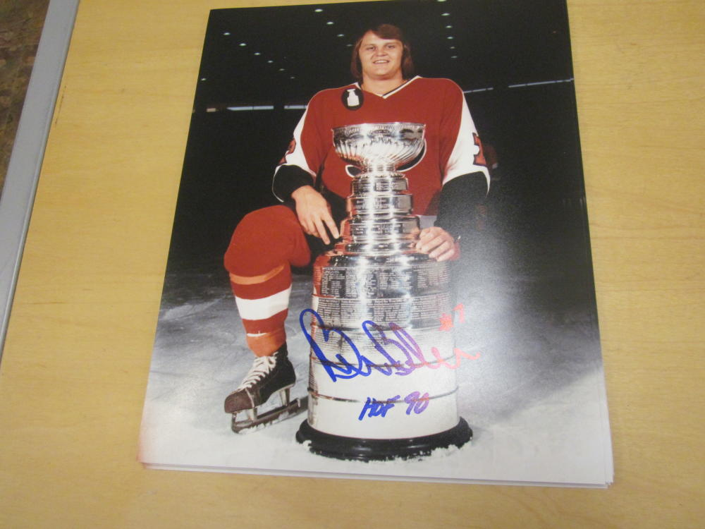Bill Barber Philadelphia Flyers signed 16x20 Photo COA  Inscription