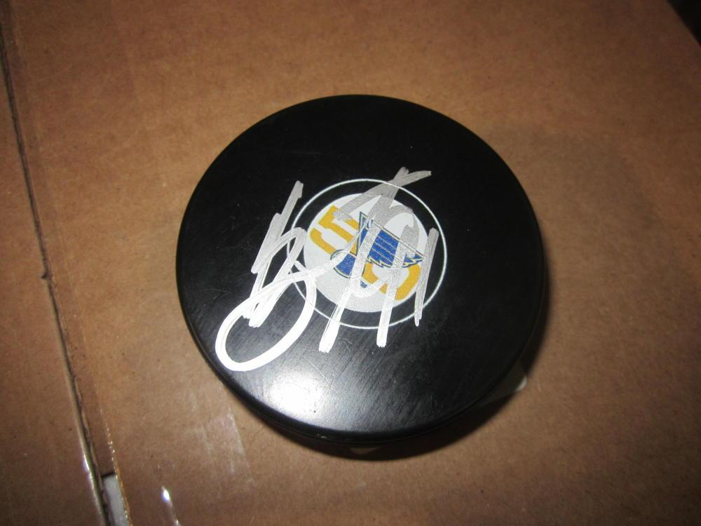 Vladimir Tarasenko St Louis Blues Signed 50th anniversary Logo Puck COA