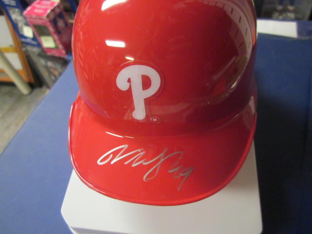 Vance Worley Philadelphia Phillies Signed Mini Helmet COA