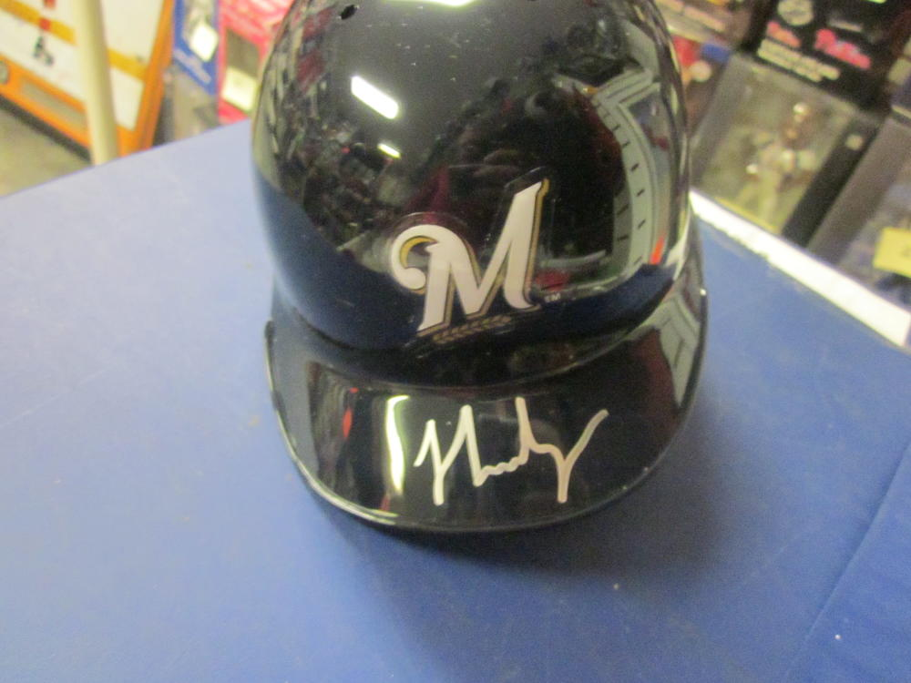 JJ Hardy Milwaukee Brewers Signed Mini Helmet COA