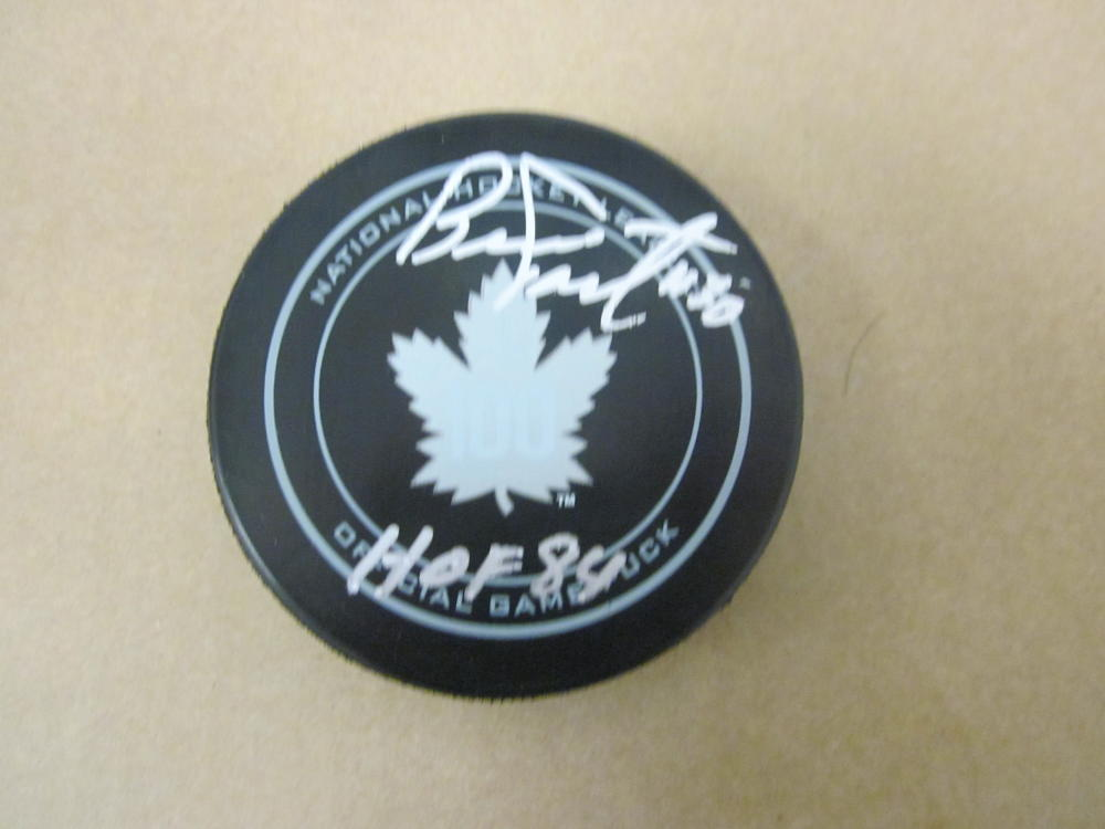 Bernie Parent  Toronto Maple Leafs 100th Anniversary Official Puck COA HOF Inscription